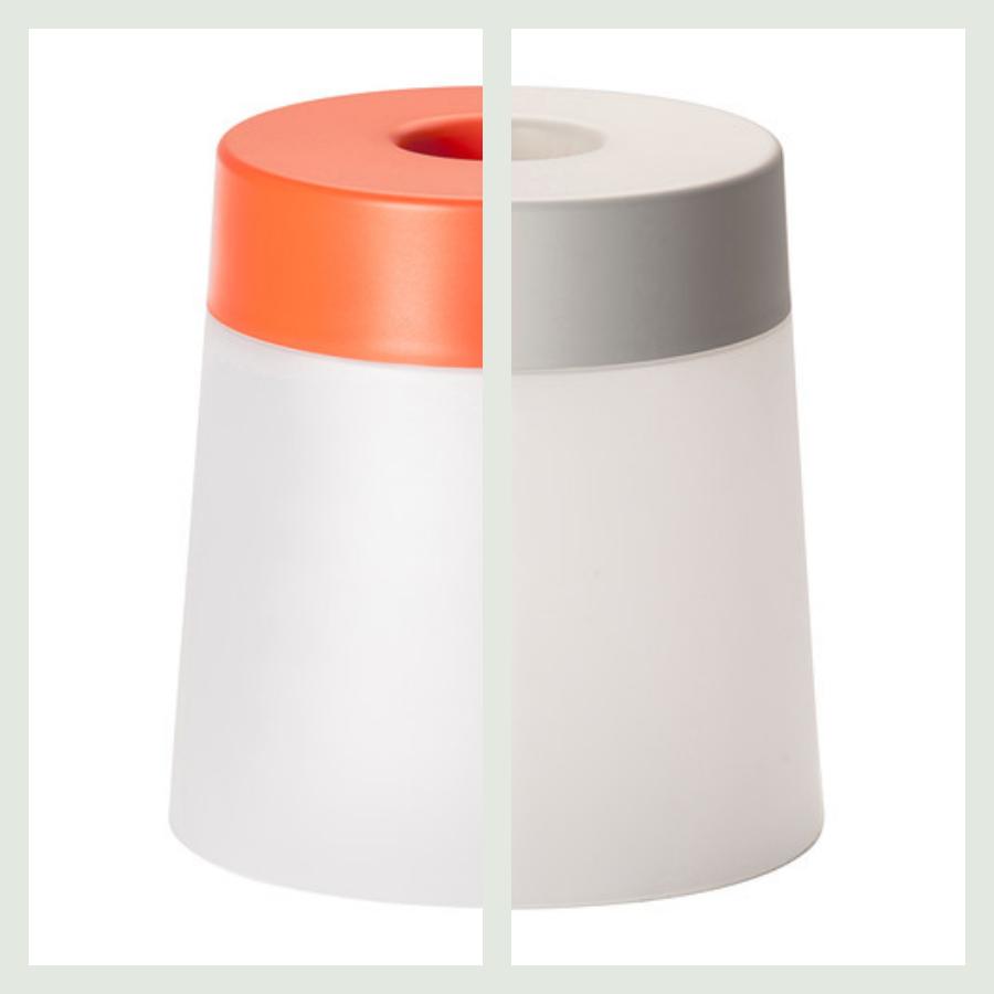 skamler med lys i orange og hvid