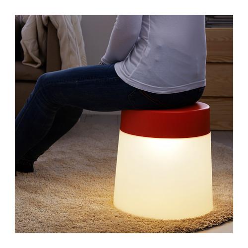 Skammel / stol med lys (LED)