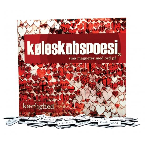 køleskabspoesi med kærlighedsord på dansk