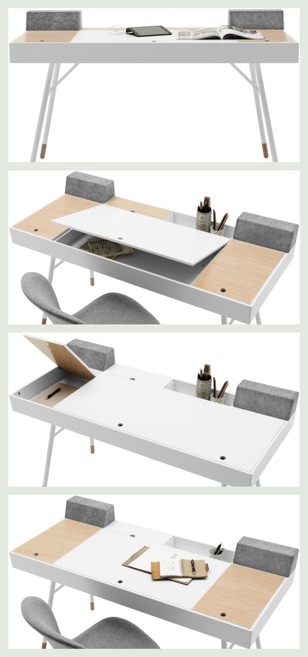Skrivebord med opbevaring