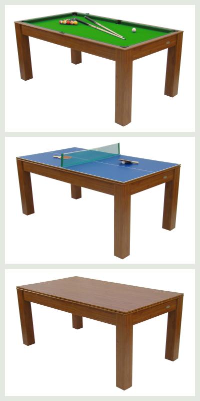 Vellidte Spisebord med billiard bord og bordtennis bord - fru bruun MP-83