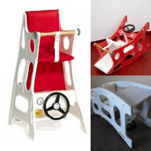 Hokus Pokus højstol og barnestol