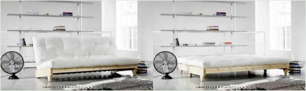 Dobbelt sovesofa futon