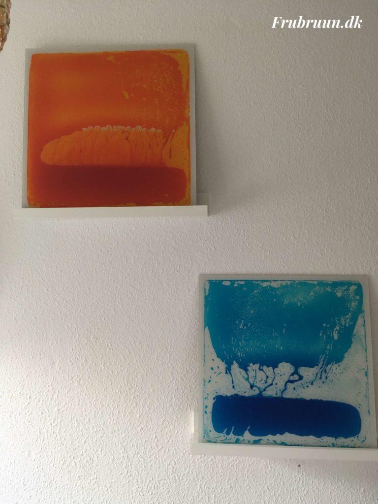 Sansemåtter opsat på væg og anvendes som billede