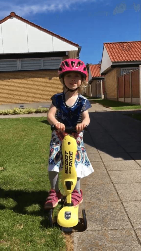 4 årig tester Scoot and Ride Highwaykick 1